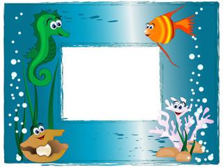 Sea photo frame