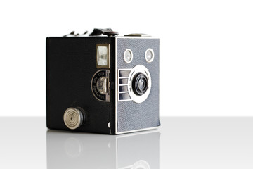 Vintage film box camera first introduced in 1900