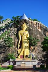 Buddha at Khao Ngoo Rock Park  Ratchaburi Thailand