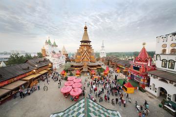 Crowd in entertainment center Kremlin