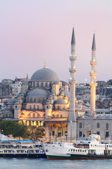 New mosque in Istanbul, Turkey.