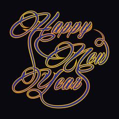 Creative new year greeting-vector illustration