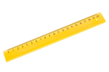yellow plastic ruler