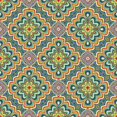 Modern Indian pattern with spiritual symbols