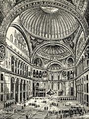 Interior of Hagia Sophia (Istanbul, Turkey)