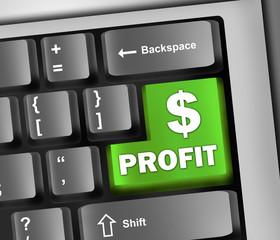 "Keyboard Illustration ""Profit"""