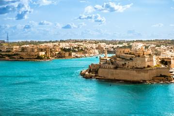 Obraz Grand Harbor, Valetta, capital of Malta - fototapety do salonu