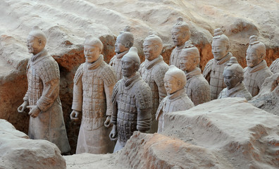 Canvas Prints Xian Terracotta army warriors in Xian, China