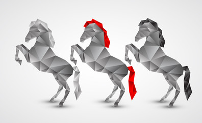 Canvas Prints Geometric animals Horse isolated on a white background