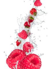 Printed roller blinds Splashing water Fresh fruit in water splash