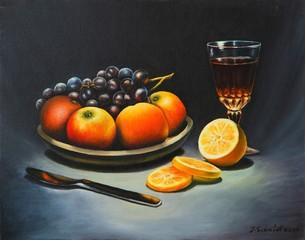 Früchte mit Wein