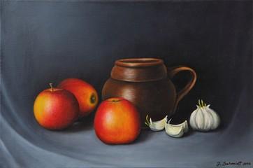 Äpfel mit Knoblauch