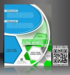 Vector business brochure, flyer