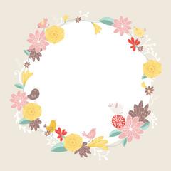 Vector floral background. Wedding invitation