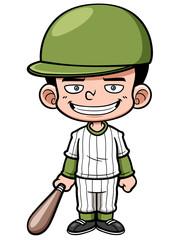 Vector illustration of Cartoon Baseball Player