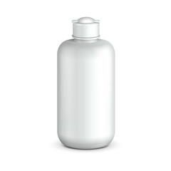 Cosmetic Or Hygiene Grayscale White Plastic Bottle Of Gel