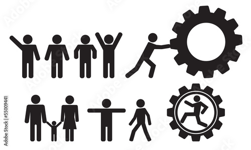 person and people vector icon set stock image and royalty free rh fotolia com