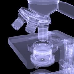 Microscope. X-ray render