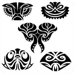 Northwest masks. Vector vinyl-ready illustration.