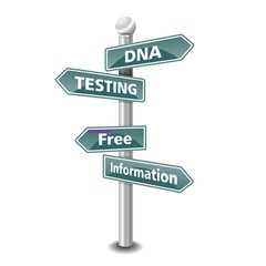 DNA TESTING icon as signpost - NEW TOP TREND