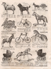 vintage victorian toys collection. antique shoping catalog