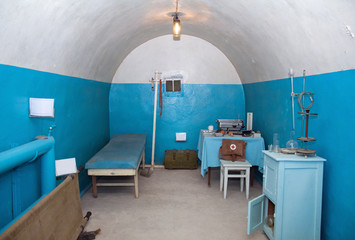 old underground hospital in military soviet bunker