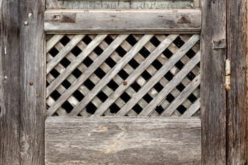 Old lattice of the window