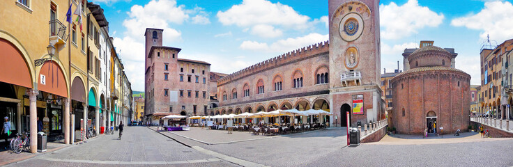 City center of the historic town of Mantua in Lombardy, Italy Wall mural