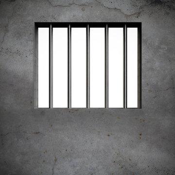 Prison window and bars