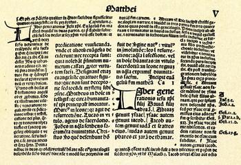 Biblia Latina cum Postillis Nicolai de Lyra (Nuremberg, 1496)