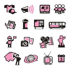 Advertising icons set