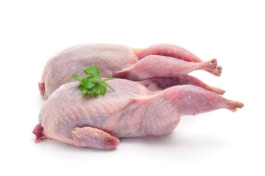 plucked quails