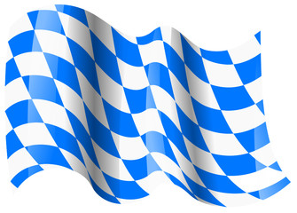 bayern fahne wehend bavaria flag waving Fototapete