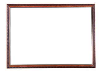 retro narrow brown wooden picture frame