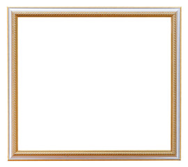 narrow carved white picture frame