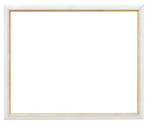 vintage narrow white picture frame