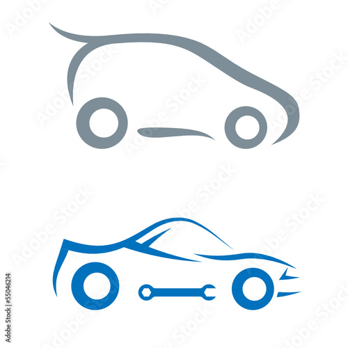 Wall mural Auto - car symbol