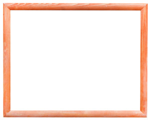 orange narrow wooden picture frame