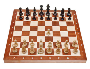 first move pawn on chess board