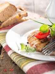 Nourishing steak on grill