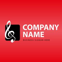 Business Logo Musik Notenschlüssel Noten