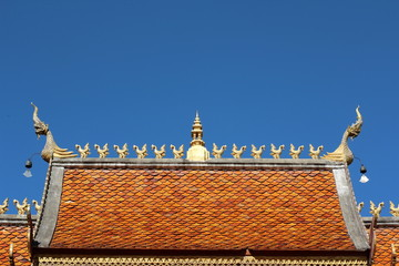 Roof of thai temple