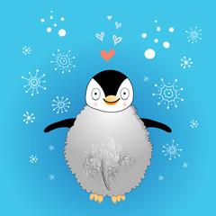 funny little penguin
