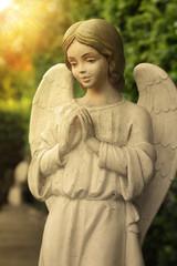 Beautiful state of an angel praying