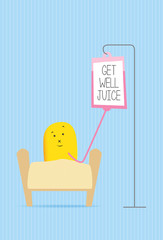 get well soon funny monster character card