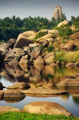 Wall Mural - hampi's river