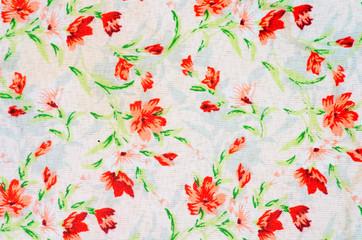 Floral design fabric