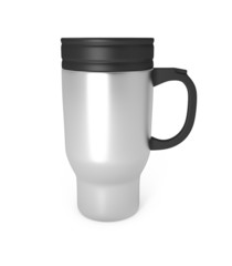 Stainless Steel Travel Mug isolated on white