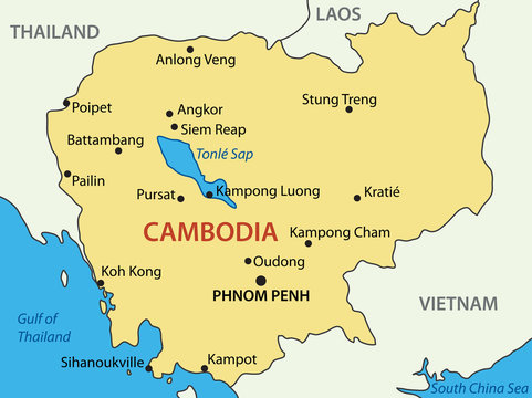 Kingdom of Cambodia - vector map