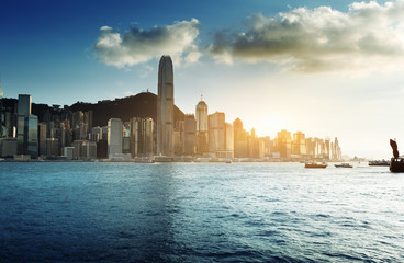 Fototapete - Skyline of Hong Kong